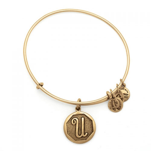 Alex and Ani Initial U Gold Bangle A13EB14UG