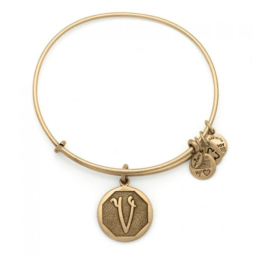 Alex and Ani Initial V Gold Bangle A13EB14VG