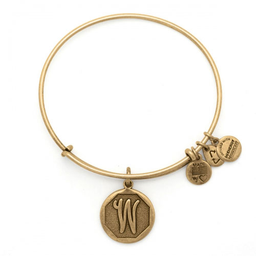 Alex and Ani Initial W Gold Bangle A13EB14WG