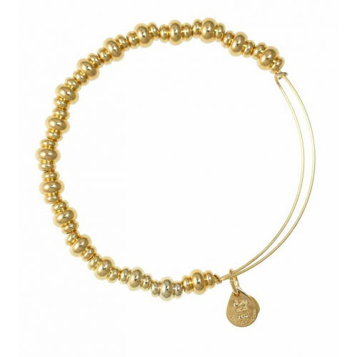 Alex and Ani Nile Beaded Gold Bangle BBEB16YG