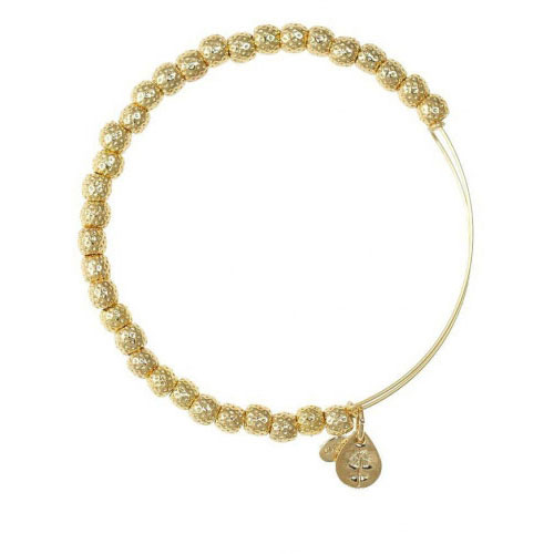 Alex and Ani Euphrates Beaded Gold Bangle BBEB17YG