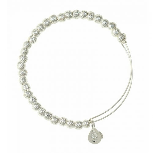 Alex and Ani Euphrates Beaded Silver Bangle BBEB17SS