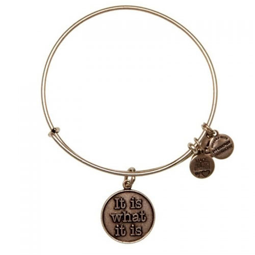 Alex and Ani It Is What It Is Silver Bangle A12EB34RS