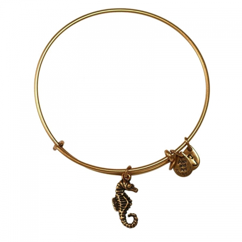 Alex and Ani Seahorse Gold Bangle A11EB115RG