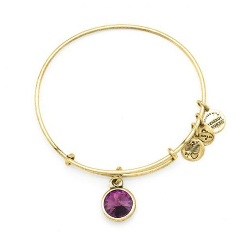 Alex and Ani February Birthstone Gold Bangle A12EB241RG