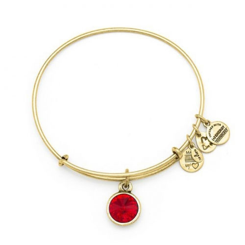 Alex and Ani July Birthstone Gold Bangle A12EB246RG