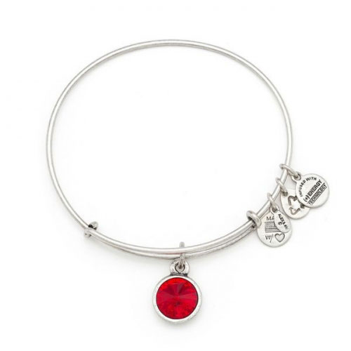 Alex and Ani July Birthstone Charm Bracelet