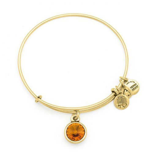 Alex and Ani November Birthstone Gold Bangle A12EB250RG
