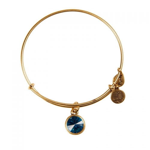 Alex and Ani December Birthstone Gold Bangle A12EB251RG