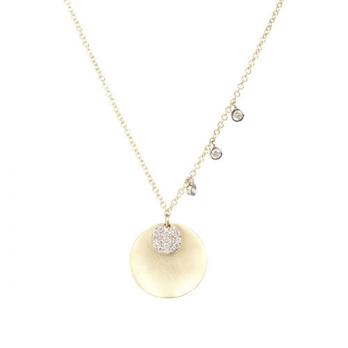 Meira T Meira T 14k Yellow Gold Diamond Disc Necklace 1N6388