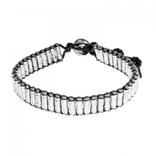 Barong Barong Grey and Silver Lucky Big Wrap Bracelet