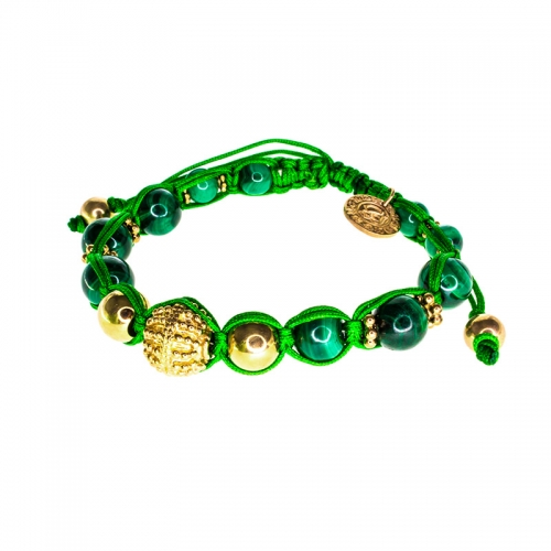 Barong Barong Green with Gold Lucky Sparkle Bracelet