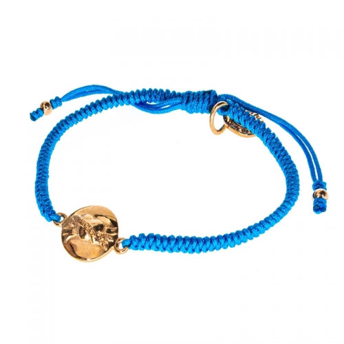 Barong Barong Sea Blue and Rose Gold One Luck Heart Bracelet