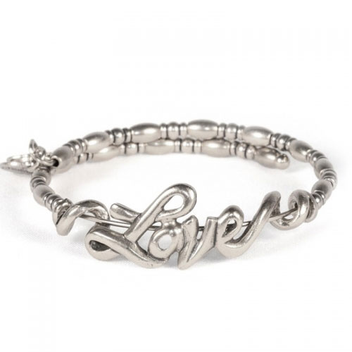 Alex and Ani Love Wrap Silver Bangle VW356RS