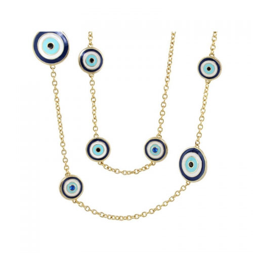 Lauren G Adams Gold Third Eye Necklace