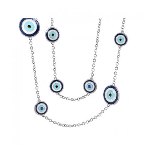 Lauren G Adams Silver Third Eye Necklace