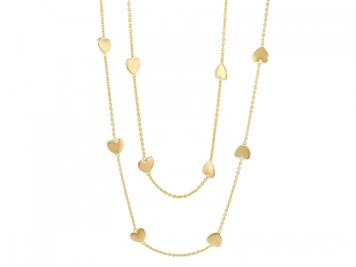 Lauren G Adams Gold Multi Heart Necklace