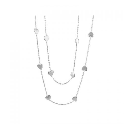 Lauren G Adams Silver Multi Heart Necklace