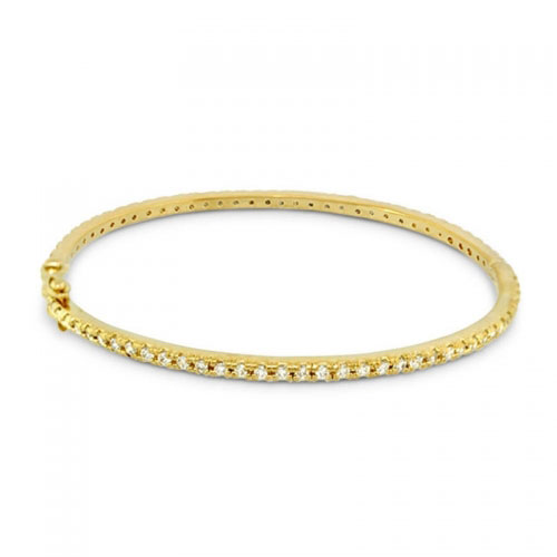 Lauren G Adams Gold Stackable Pave Bangle