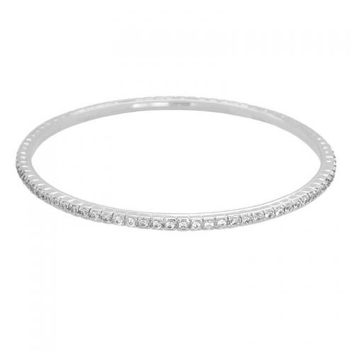 Lauren G Adams Silver Stackable Pave Bangle