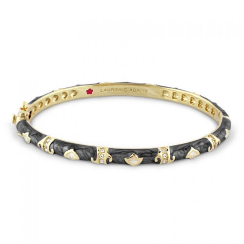 Lauren G Adams Gold and Enamel Stackable Fiesta Bangle