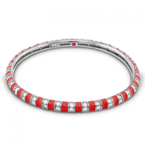 Lauren G Adams Red Stripe Tease Stackable Bangle