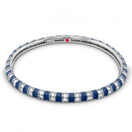 Lauren G Adams Navy Blue Stripe Tease Stackable Bangle