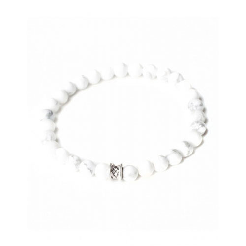 Gemini Small White Basic Bracelet