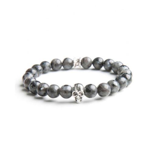 Gemini Small Grey Skull Bracelet