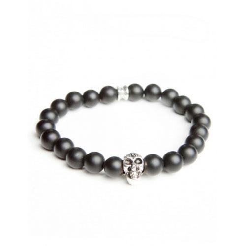 Gemini Small Black Skull Bracelet