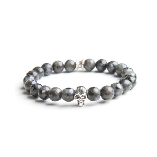 Gemini Medium Grey Skull Bracelet