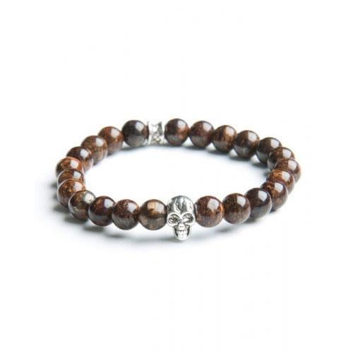 Gemini Medium Brown Skull Bracelet
