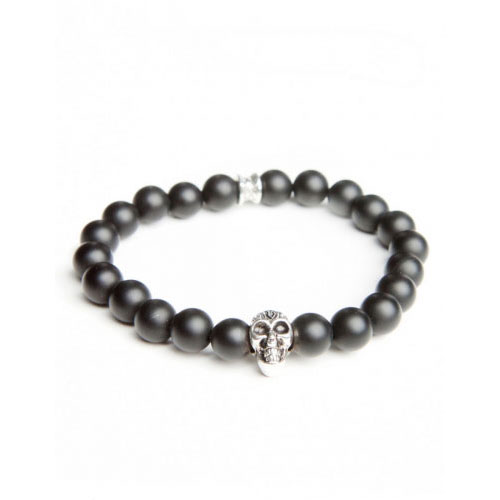 Gemini Medium Black Skull Bracelet