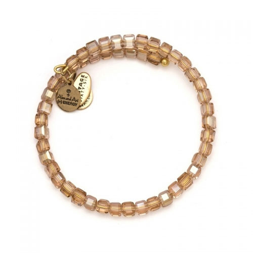 Alex and Ani Blush Starry-Eyed Wrap Gold Bangle VW364RG