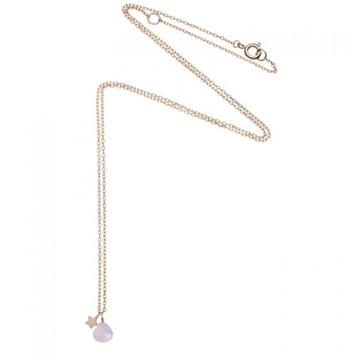 Estella Bartlett Precious Moonstone and Star Rose Gold Plated Necklace