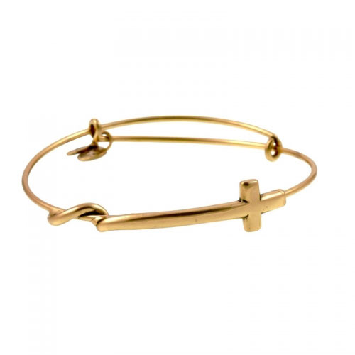 Alex and Ani Cross Wrap Gold Bangle A10EB066RG