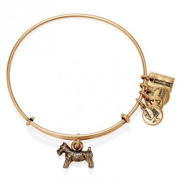 Alex and Ani MONOPOLY Dog Gold Bangle AS14HAS03RG