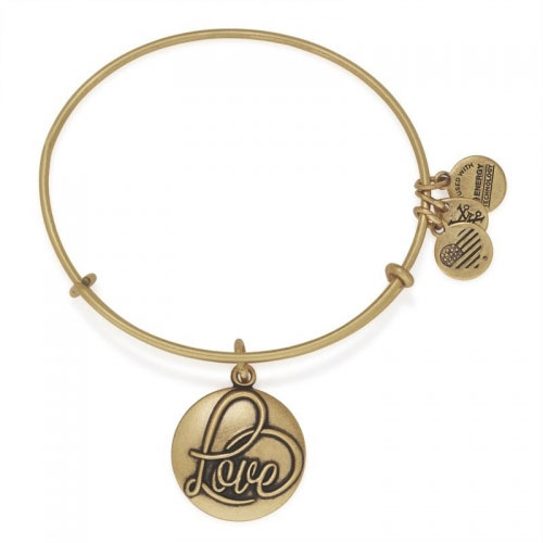 Alex and Ani Love III Gold Bangle A16EBLRG