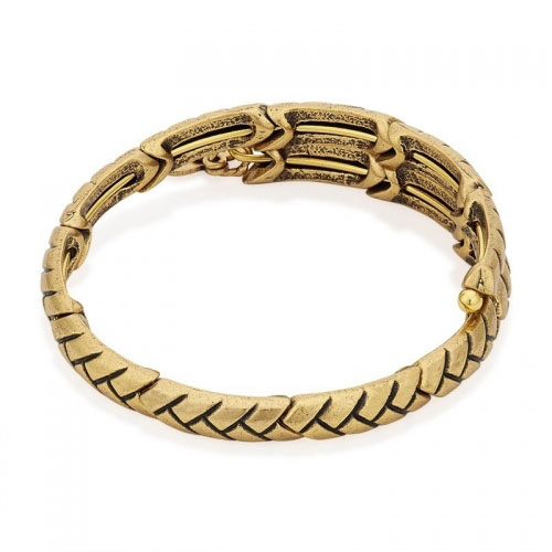 Alex and Ani Nature's Weave Gold Wrap Gold Bangle V16W03RG