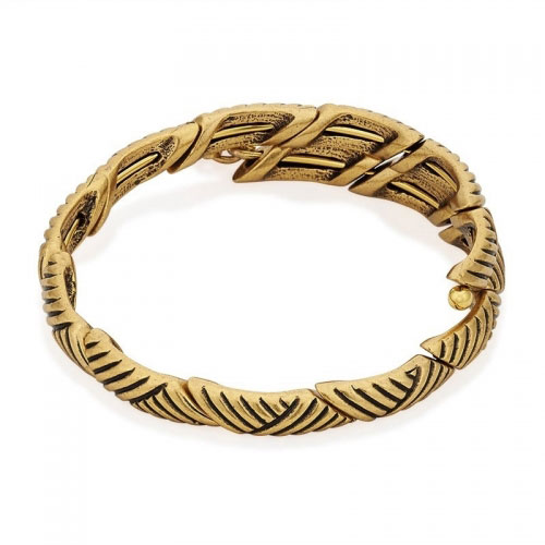 Alex and Ani Rolling Hills Gold Wrap Bangle V16W04RG