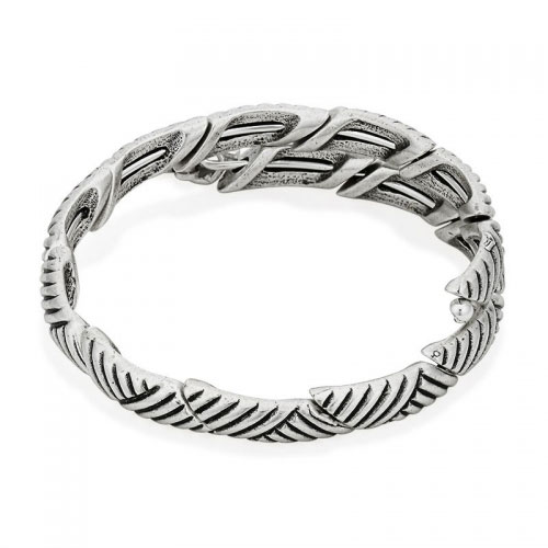 Alex and Ani Rolling Hills Silver Wrap Bangle V16W04RS