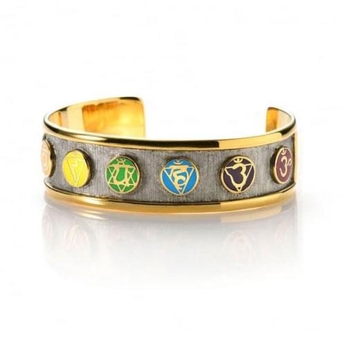 Chakra By Piya Multi Chakra Cuff Bracelet