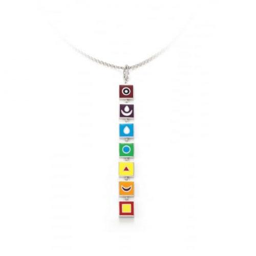 Chakra By Piya Multi Chakra Long Pendant