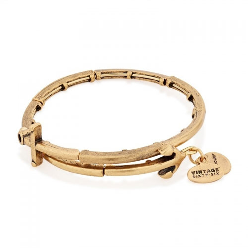 Alex and Ani Anchor Gold Bangle V16W28RG
