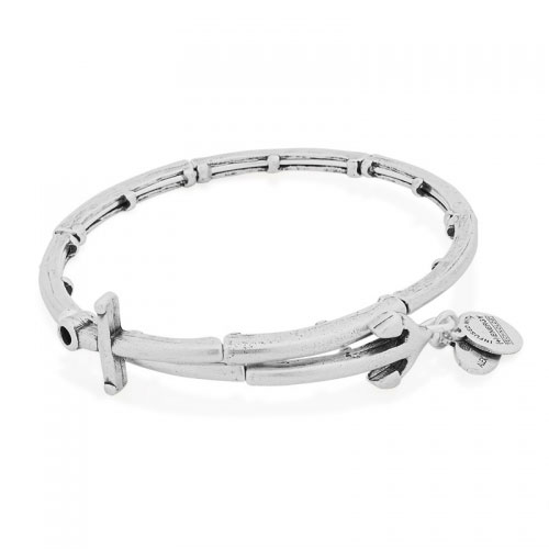 Alex and Ani Anchor Silver Bangle V16W28RS