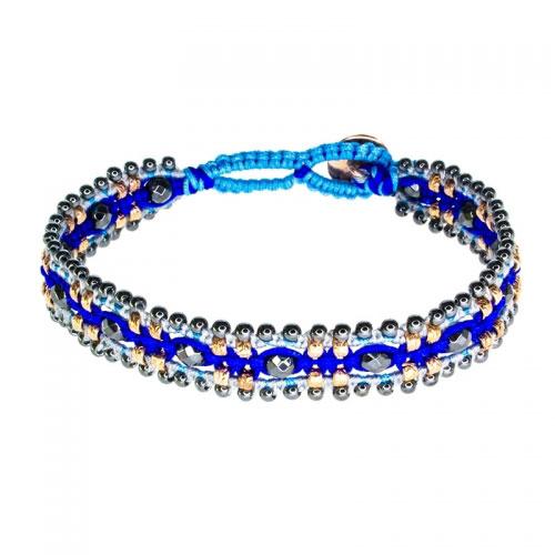Barong Barong Blue and Rose Gold Magic Carpet Bracelet