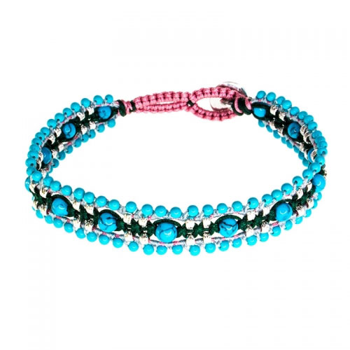 Barong Barong Turquoise and Silver Magic Carpet Bracelet