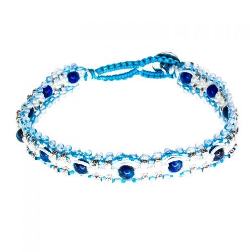 Barong Barong Light Blue and Silver Magic Carpet Bracelet