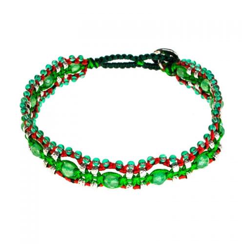 Barong Barong Green and Silver Magic Carpet Bracelet