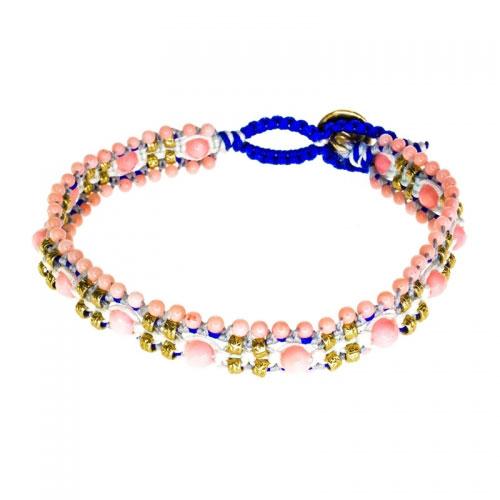 Barong Barong Pink and Yellow Gold Magic Carpet Bracelet